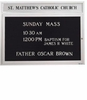 Illuminated Church Letter Board