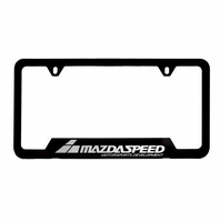 Genuine MazdaSpeed Black License Plate
