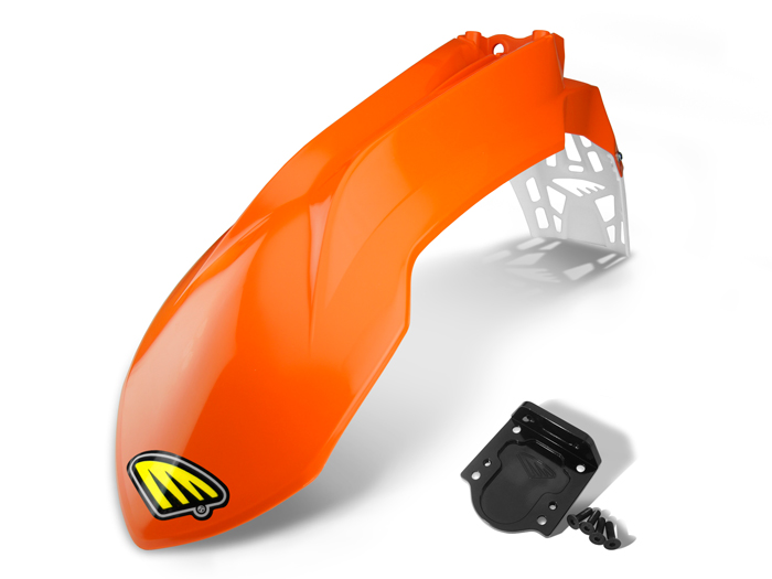 2013-14 KTM CYCRALITE FRONT FENDER with BRACKET ADAPTER