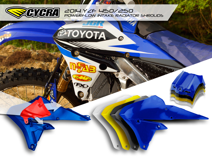 2014 POWERFLOW INTAKE RADIATOR SHROUDS with AIRBOX COVER – YAMAHA