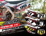"CUSTOM BACKGROUNDS ""CARBON"" HONDA CRF450/CRF250"