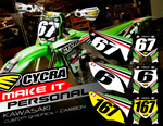 "CUSTOM BACKGROUNDS ""CARBON""  KAWASAKI 450/250"