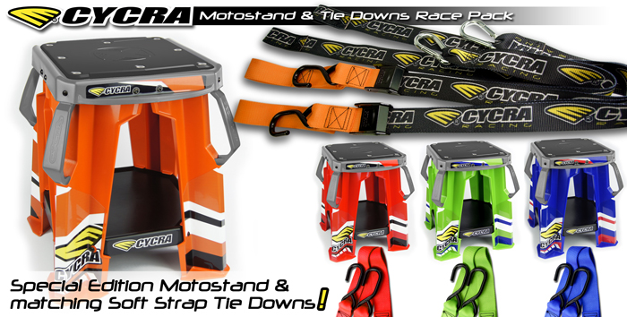 MOTOSTAND AND TIE DOWN RACE PACK