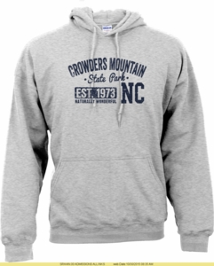 Crowders Mountain State Park Hoodie Sweatshirt