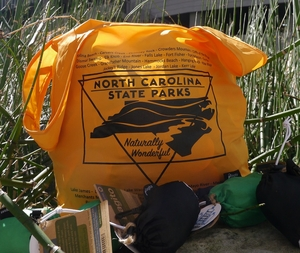 Reusable, recycled NC State Parks Bags