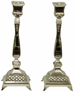 """Candle Sticks Silver Plated  14""""H"""