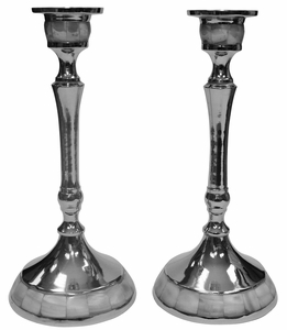 Candlestick Nickel W/Mother Of Pearl
