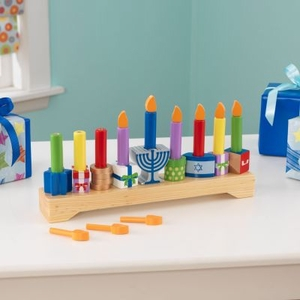 Wooden Children's Menorah