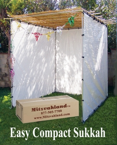 "Easy Compact Sukkahs (Succot / Sukkot) <br/><font color=""red"">FREE SHIPPING</font> <BR>Guaranteed Same Day Shipping"