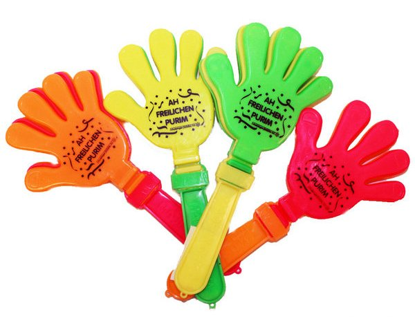 Hand Clapping Purim Graggers -  Assorted Colors