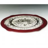 Large Oval Rosewood Challah Tray