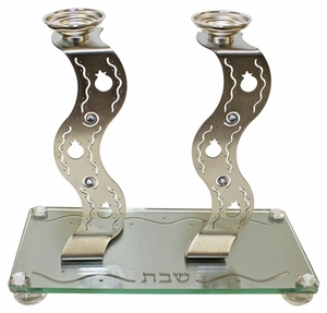 Lazer Cut Candle Stick With Tray