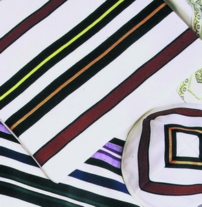 Multicolore Tallit with Matching Tallis Bag