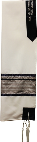 Viscose Rayon Blue and Beige Tallit Set