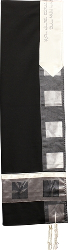 Wool Black and Grey Shades Tallit Set