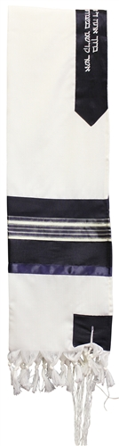 Wool Navy and Gold Shades Tallit Set