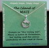 Islands of Hawaii - Maui Island Necklace