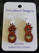 Koa Wood Earrings Pineapple
