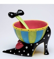 Black Heel Bowl With Spoon Dollymama By Joey Heiburg