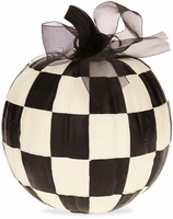 Black & White Checked Pumpkin