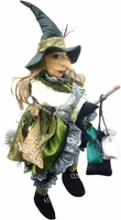 Lucinda Witch of Pendle Doll - Green