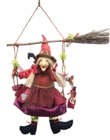 Olivia  Swinging Kitchen Witch Doll  SOLD OUT