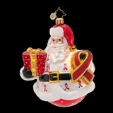 2013 Radko Charity-HIV/AIDS Awareness-Claus for a Cure - 30% Off