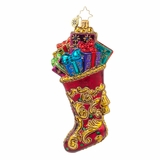 Retired Radko Xmas II - Regal Stocking - 25% Off