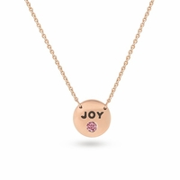 "14K Rose Gold & PGD Pink Diamond Necklace ""JOY"""