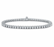 14K White Gold 2.00ctw Diamond Line Bracelet