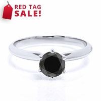 .76ct Round Black Diamond