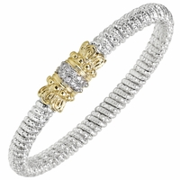 Alwand Vahan Sterling Silver & 14K Gold Bracelet with Diamonds