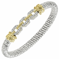 Alwand Vahan Sterling Silver & 14K Yellow Gold Bracelet with Chain Link Design