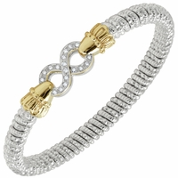 Alwand Vahan Sterling Silver & 14K Yellow Gold Bracelet with Infinity Design
