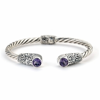 Amethyst Sterling Silver Bangle by Samuel B