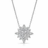 Beverley K 18K White Gold & Diamond Snowflake Necklace