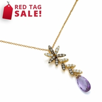 Briolette Amethyst & Diamond Necklace