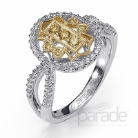 Diamond Two Tone Fashion Ring