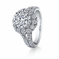 Hemera Circle Halo Diamond Engagement Ring