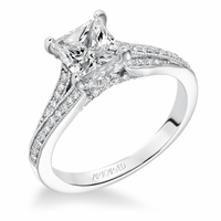 KAYEE ArtCarved Engagement Ring