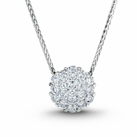 Diamond Cluster Necklace - Invisible Set
