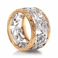 18K Diamond Vine Band by Beverley K