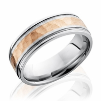 Lashbrook Cobalt & Rose Gold Wedding Band
