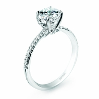 Lyria Delicate Classic Diamond Engagement Ring