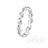 Lyria Leaf White Gold Band