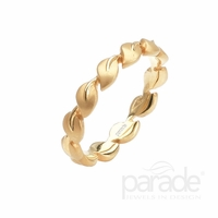 Lyria Leaf Yellow Gold Band