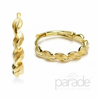 Lyria Leaf Yellow Gold Earrings