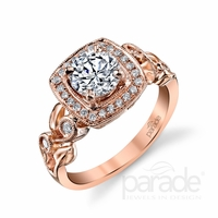 Lyria Rose Gold Diamond Ring