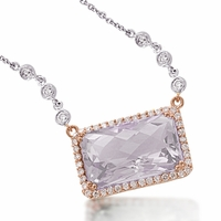 Meira T Lavender Amethyst & Diamond Necklace