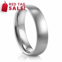 Mens 6mm Palladium Ring